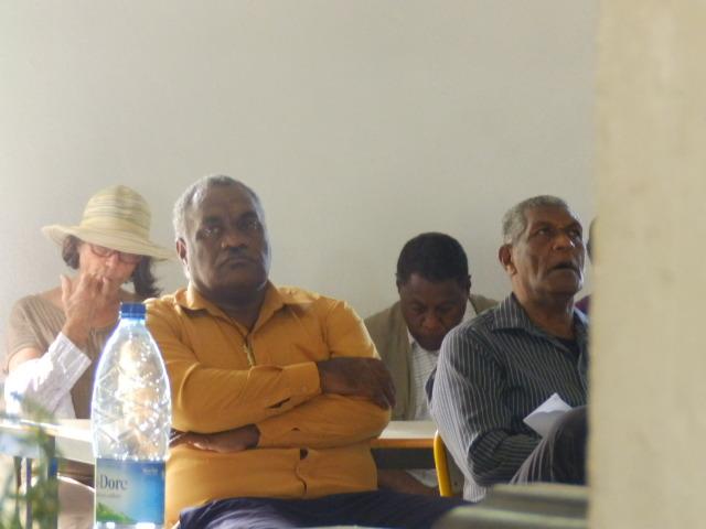 Le Modérateur Pasteur Calvin avec le Président de l'EPKNC, Pasteur WAKAINE Wakira