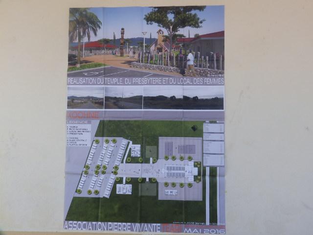 Plan du projet de Teari à Kôôhne sur le terrain attribué à l'Eglise par la mairie de Kôôhne