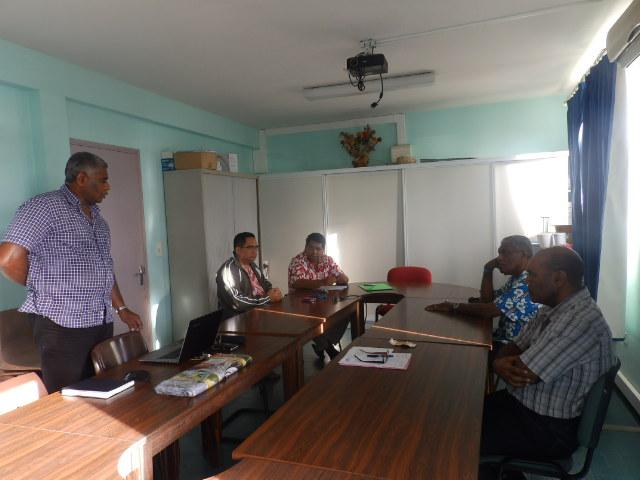 Visite à la direction de l'ASEE / Accueil par le Directeur IHAGE Victor et KAKUE Joël, responsable du Service Pédagogique.