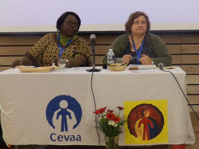 Les modératrices de l'AG (Les pasteures : LAWSON-LATE ZINSOU Martine et HAUSS BERTHELIN Danielle)