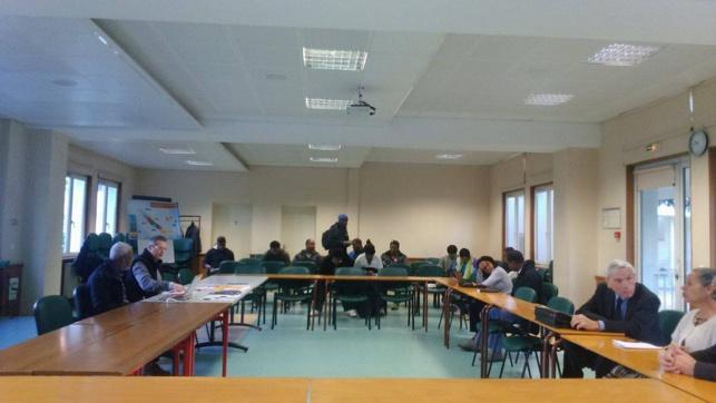 Les étudiants lors d'une rencontre avec les enseignants de la Faculté Théologique de Montpellier