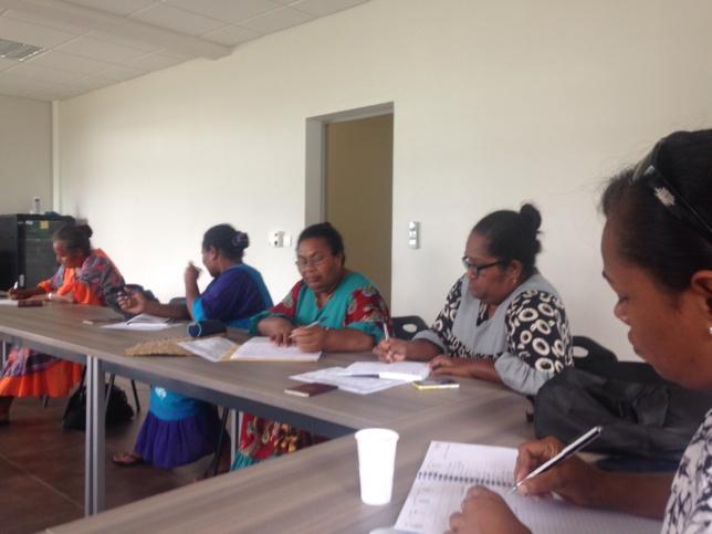 Réunion de la délégation à la Vallée du Génie avant le départ pour Tahiti.