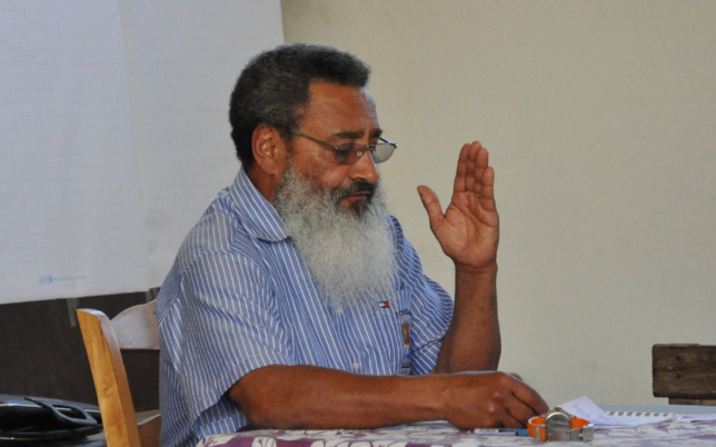 Pasteur Pothin lors du synode général de Wanap en 2011