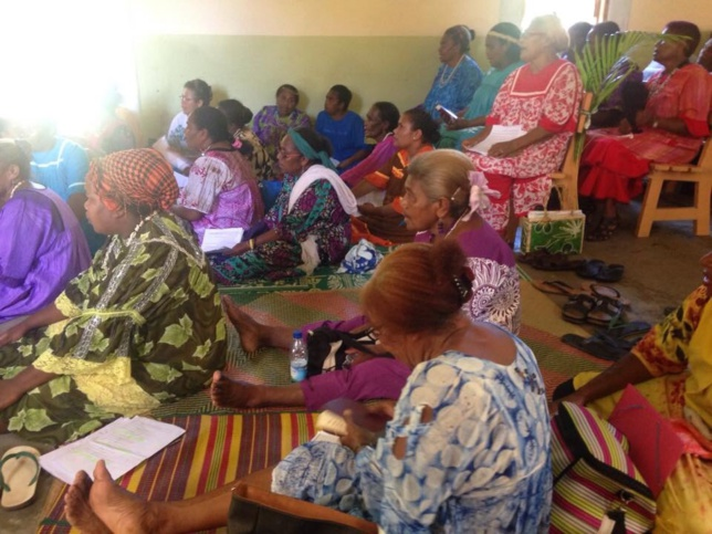 Les mamans du Consistoire de PPT au temple de Tibarama