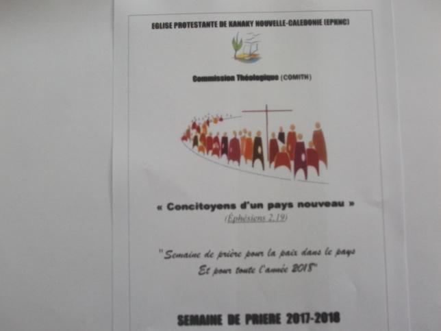 """Le thème de la semaine de prière : """"Concitoyens d'un Pays Nouveau"""" (Ephésiens 2/11-22)"""