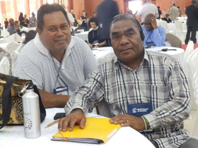 Pasteur PADOME Paul de l'Eglise Protestante de Kanaky Nouvelle-Calédonie avec Pasteur KENNETH de AITUTAKI RAROTONGA