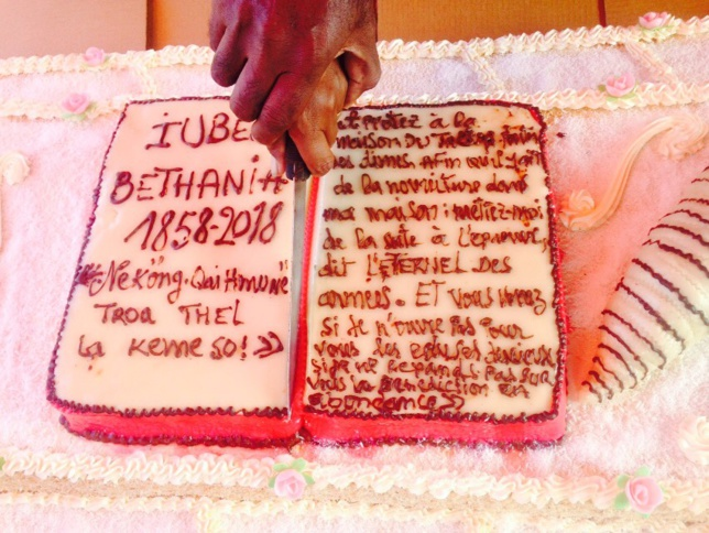 Gateau des 160 ans de Béthanie
