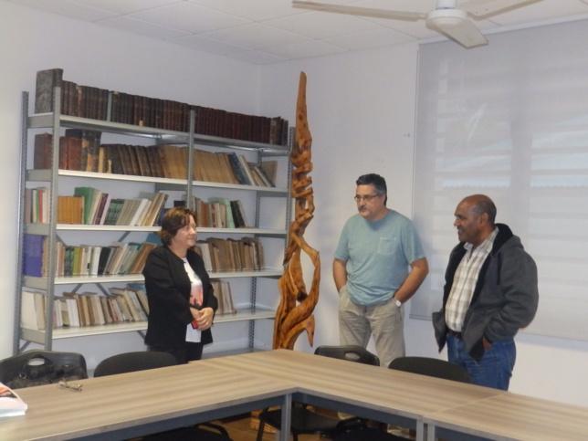 De gauche à droite : Pasteure Tünde Lamboley, Olivier HOUDARD trésorier général, Victor IHAGE directeur de l'ASEE