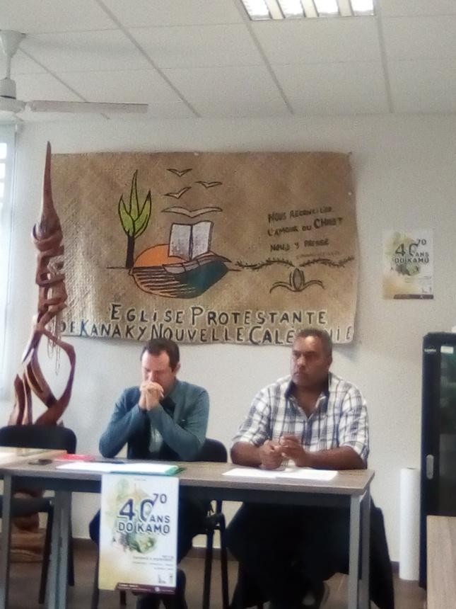Daniel COLLET et WANEISI Upiko au siège de l'EPKNC