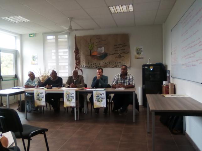 Comité 40 ans de Do-Kamo pour une conférence de presse au siège de l'EPKNC pour préparer et médiatiser les 40ans du lycée Do-Kamo