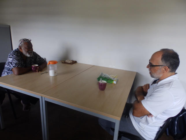 Discussion et partage autour d'un café