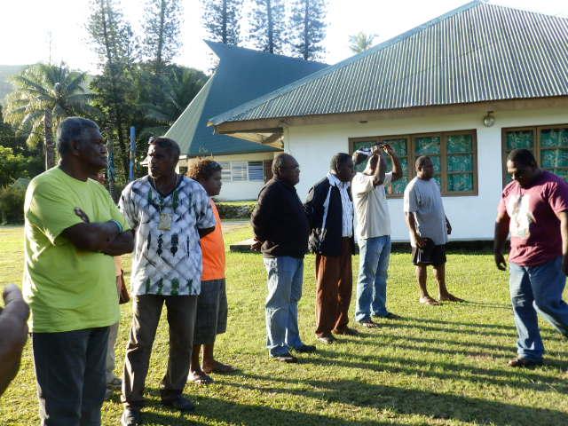 La délégation des pasteurs de Momawe