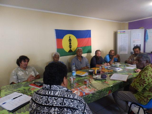 Rencontre avec le bureau politique du FLNKS au siège du RDO (Rassemblement Démocratique Océanien).