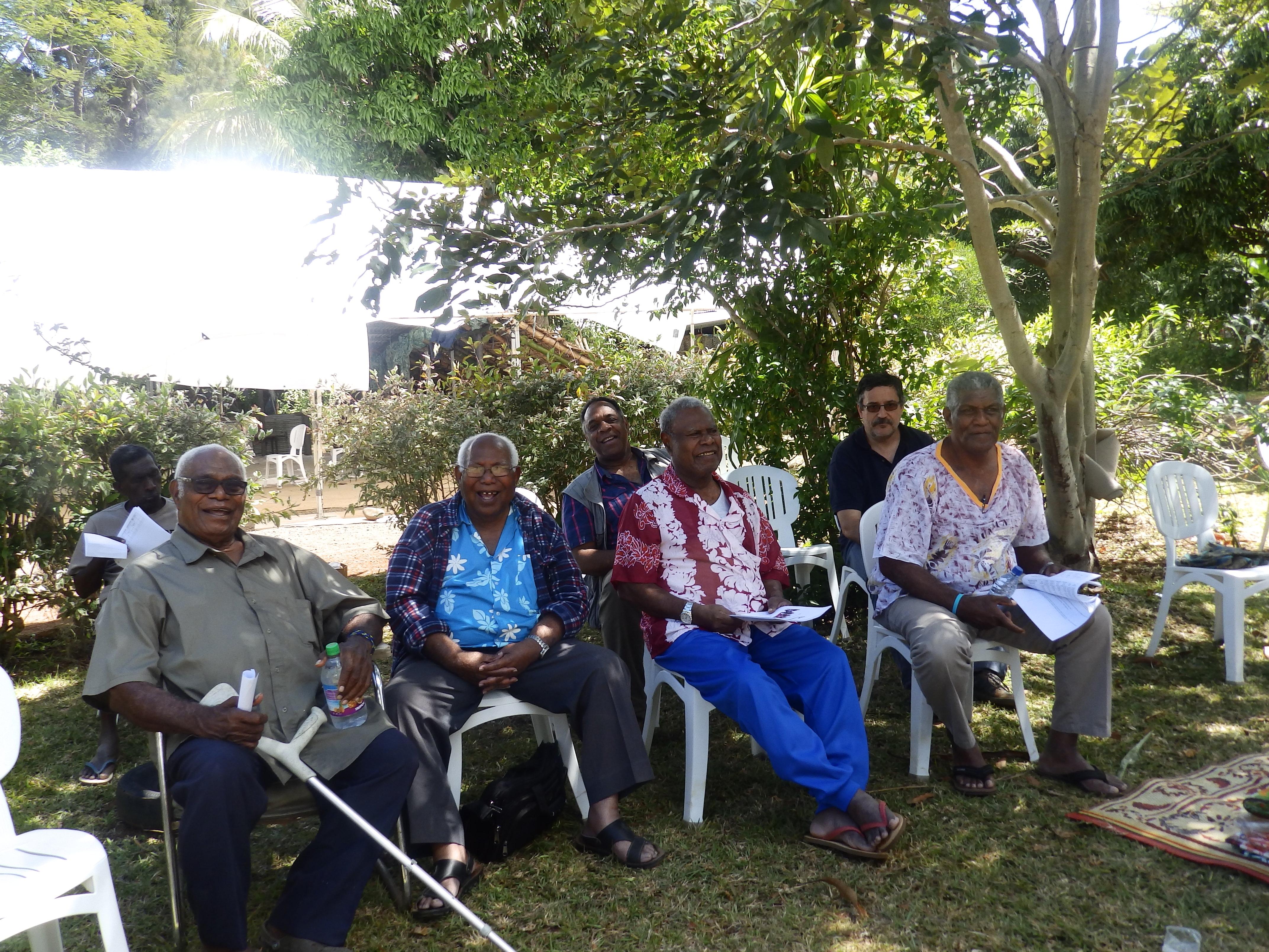 Les anciens ont marqué par leur présence la yunian de Plum, au côté du Président du Consistoire de Nouméa et du Président de l'EPKNC