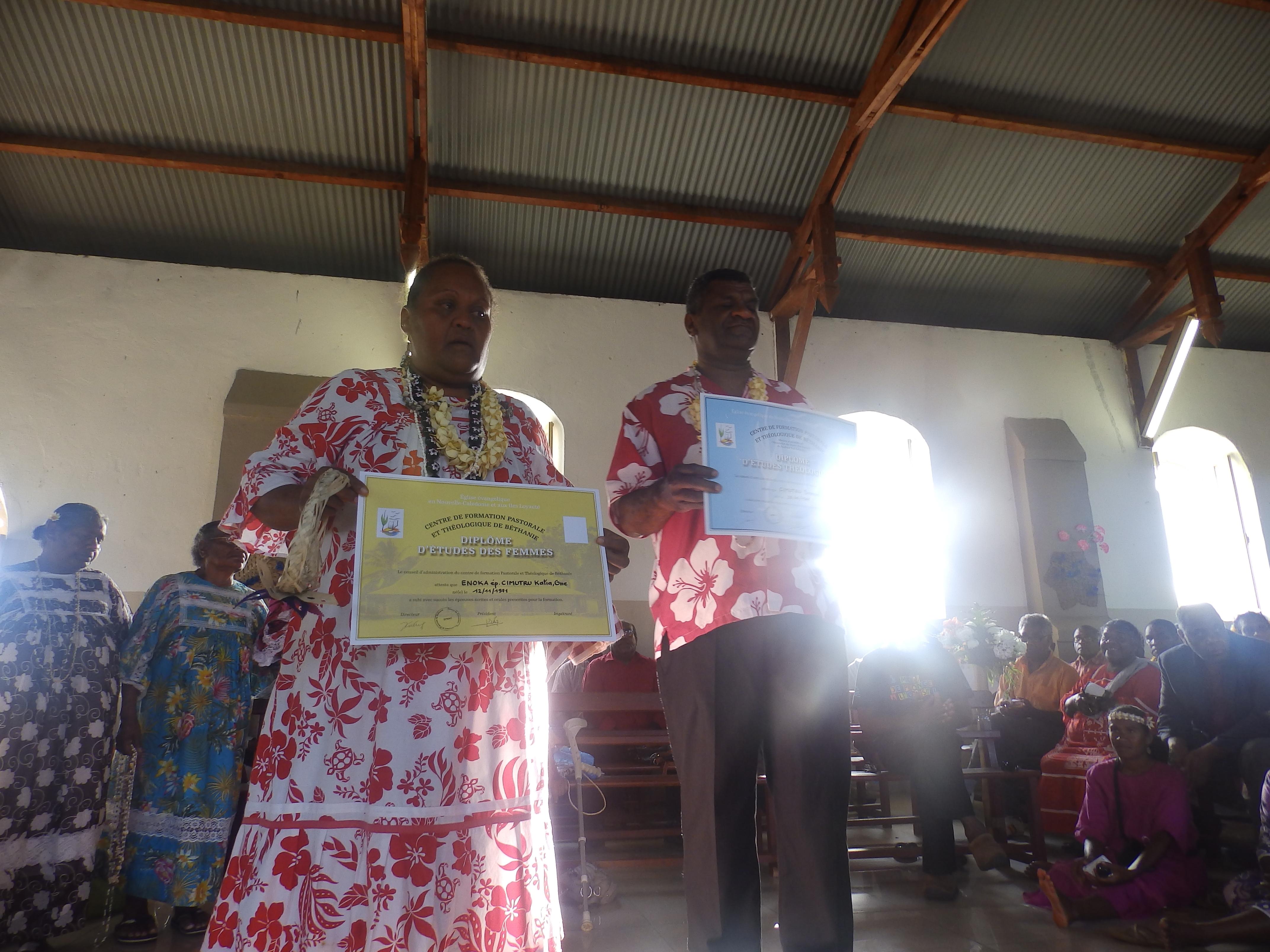 CIMUTRU Hmae et son épouse Katia One, exerceront dans la région de Nengone