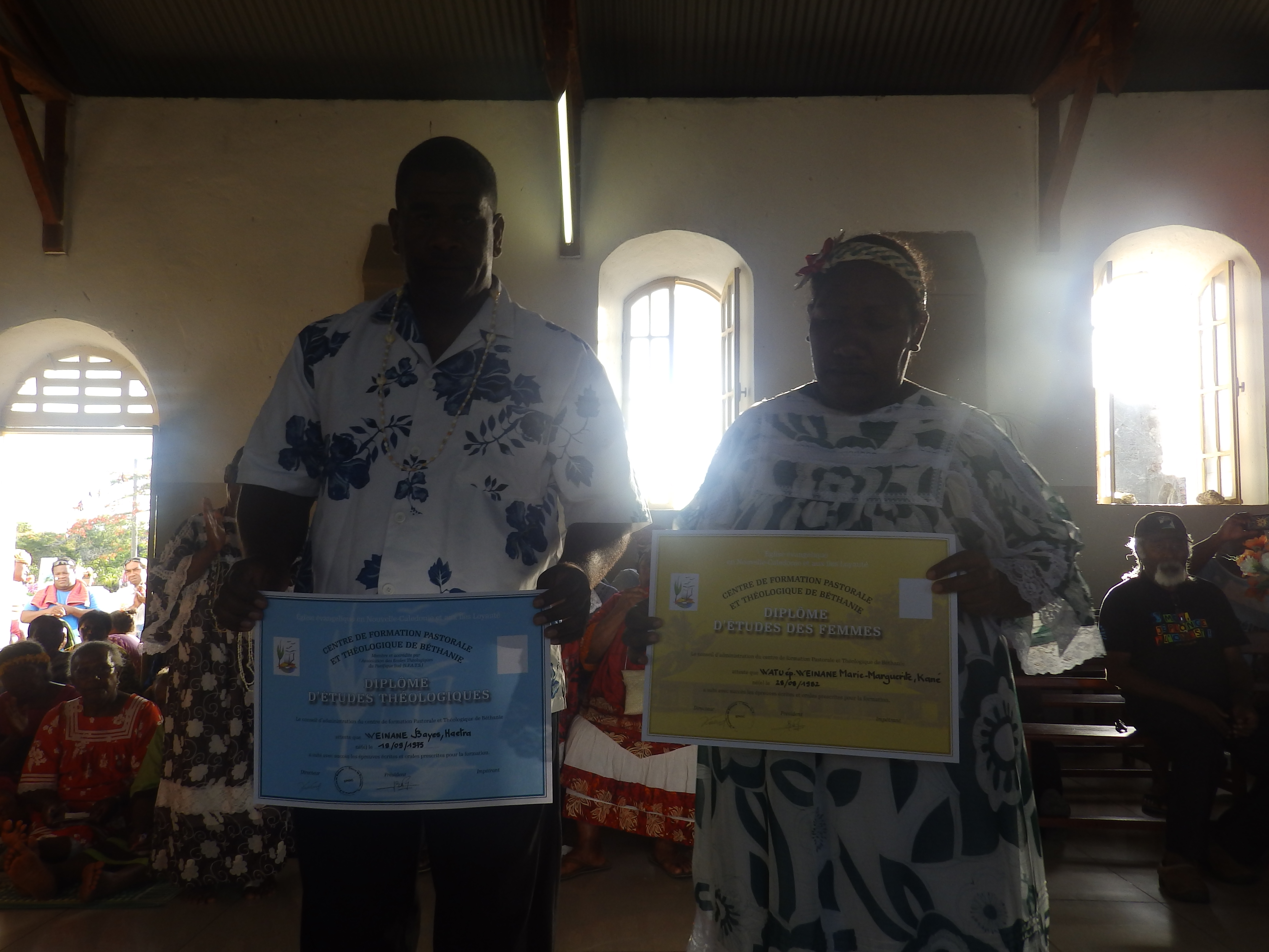 WEINANE Bai et son épouse Marguerite Mane exerceront leur ministère pastoral dans la région de Iaai.