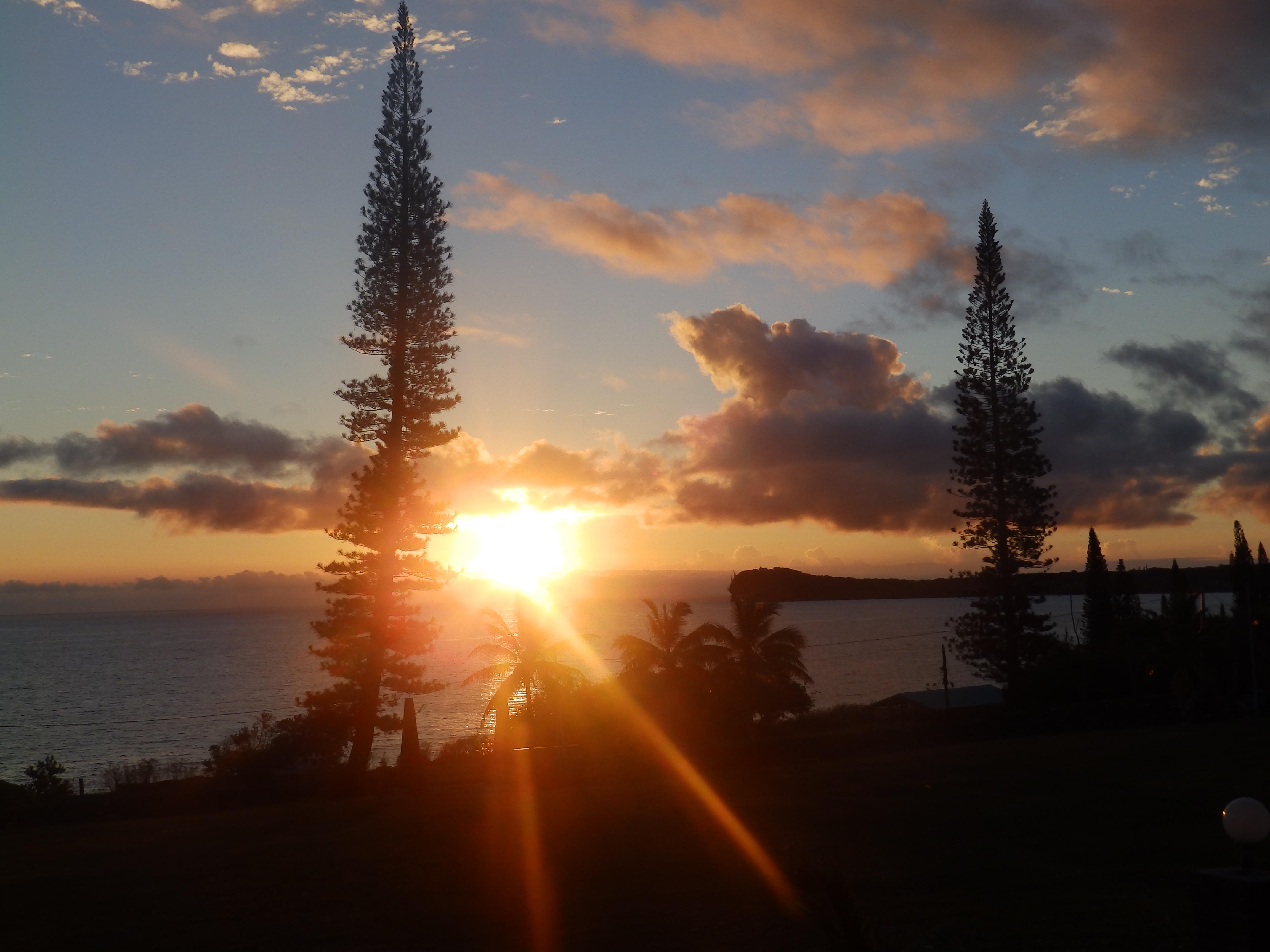 Coucher du soleil à Easo, vu de Béthanie