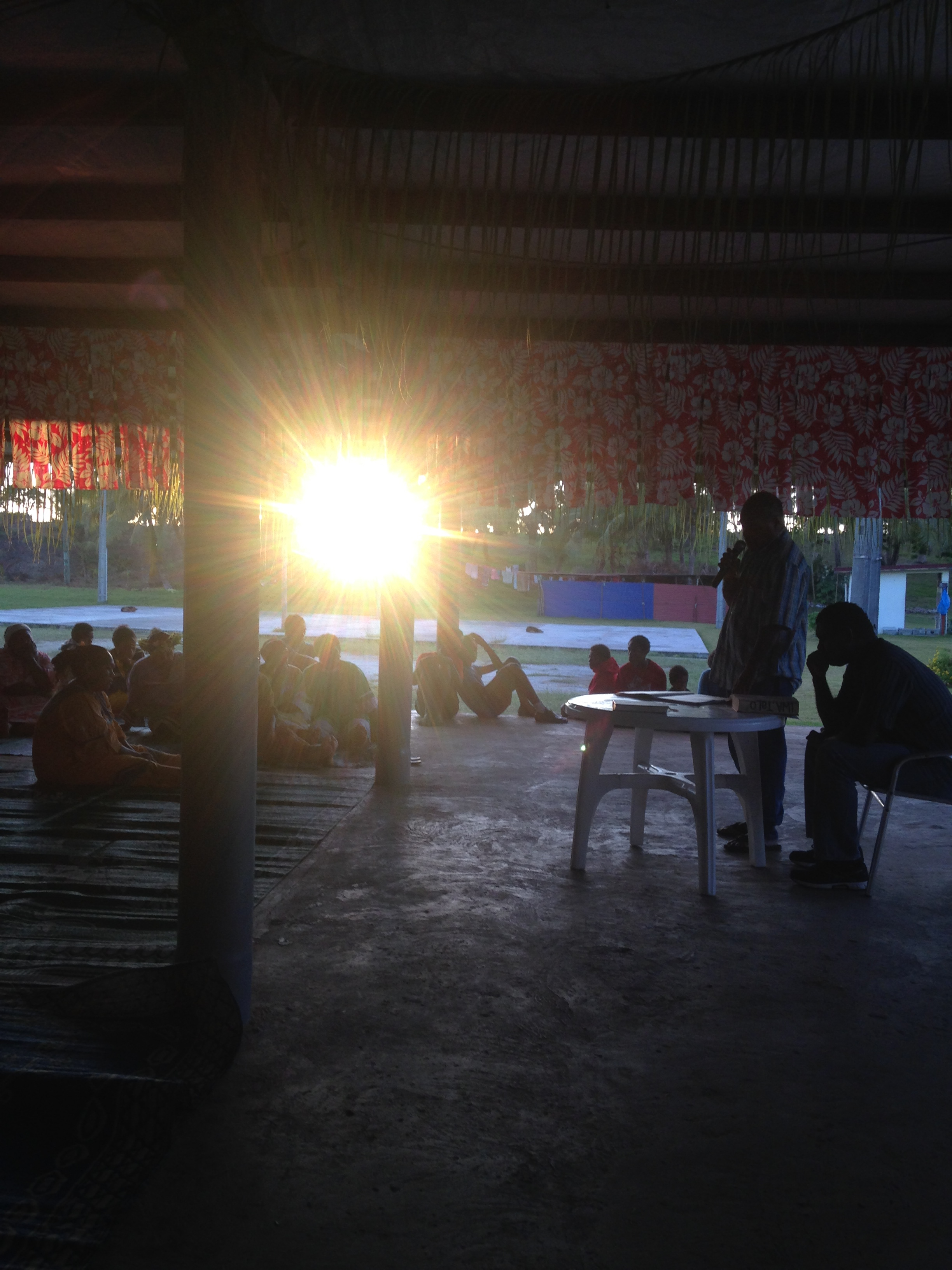 Animation de la méditation : Région de Drehu et levée du soleil à Horizon