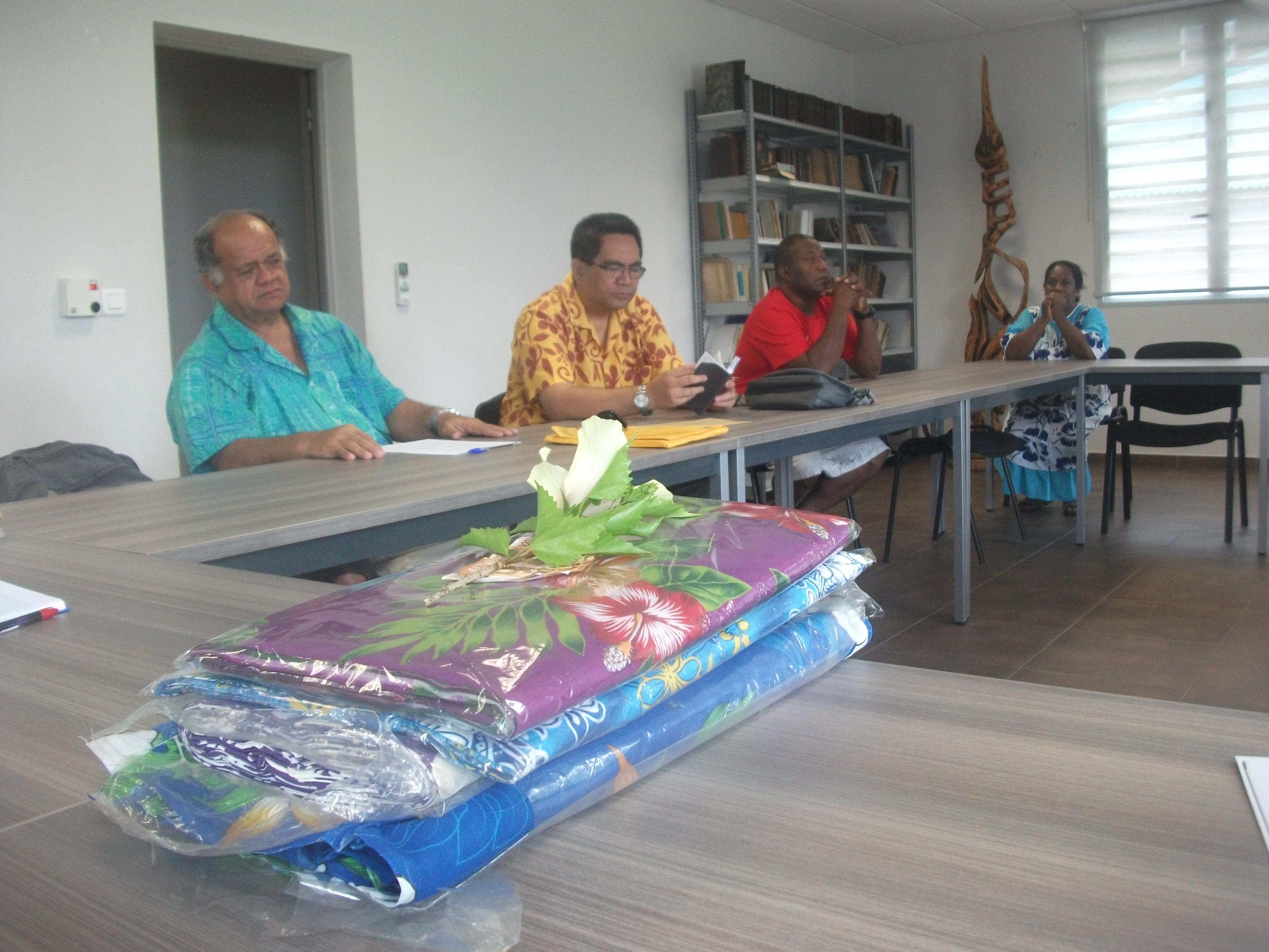 Dernière rencontre avec le bureau de l'EPKNC avant le départ pour Maohi Nui.