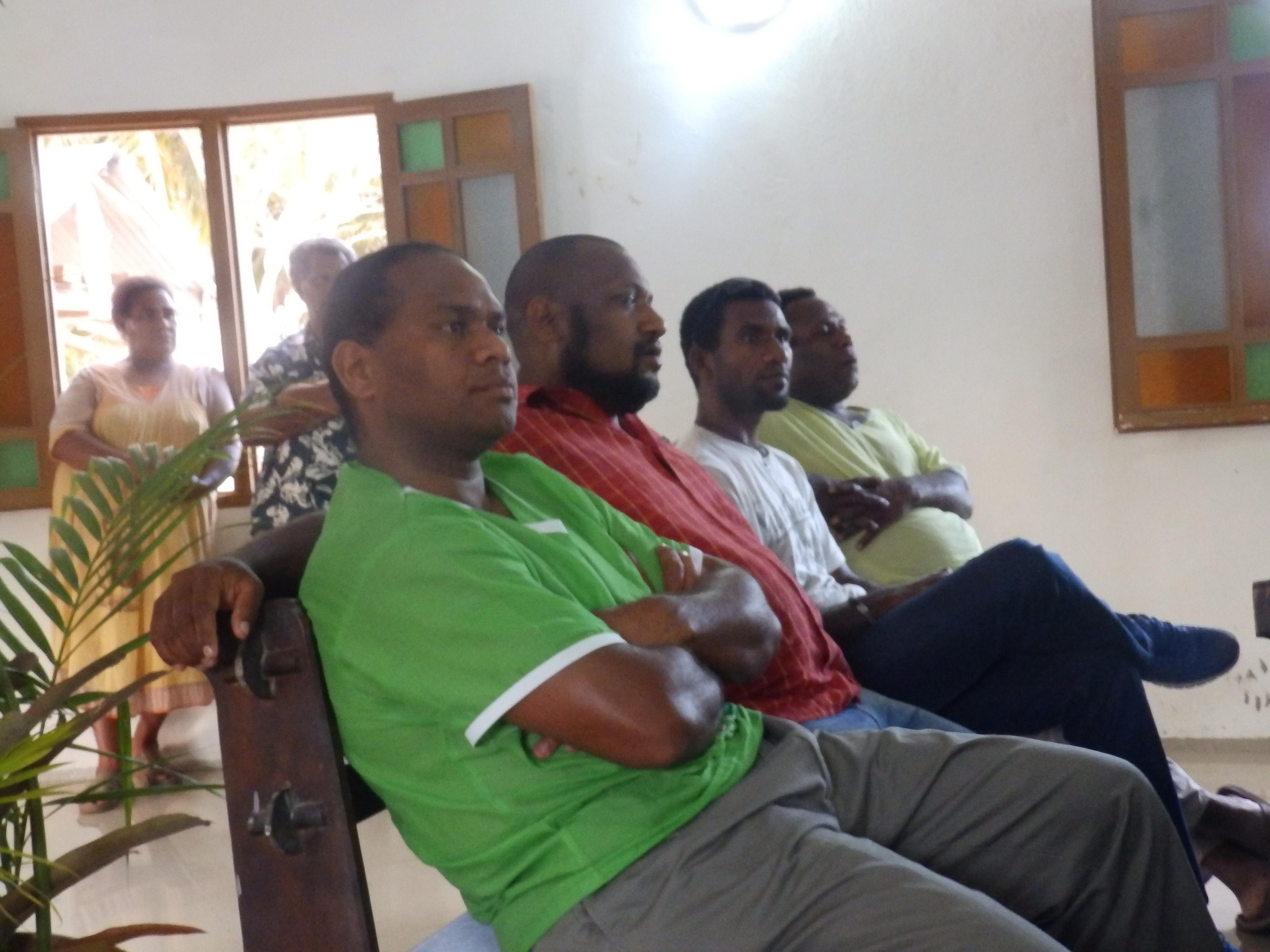 Les pasteurs proposants : BAE Naliwa, WEA Kuanene, HNACIPAN Iamele, et l'étudiant XOWIE Kevin en stage de 3ème dans le consistoire de Kôôhne/Vook.