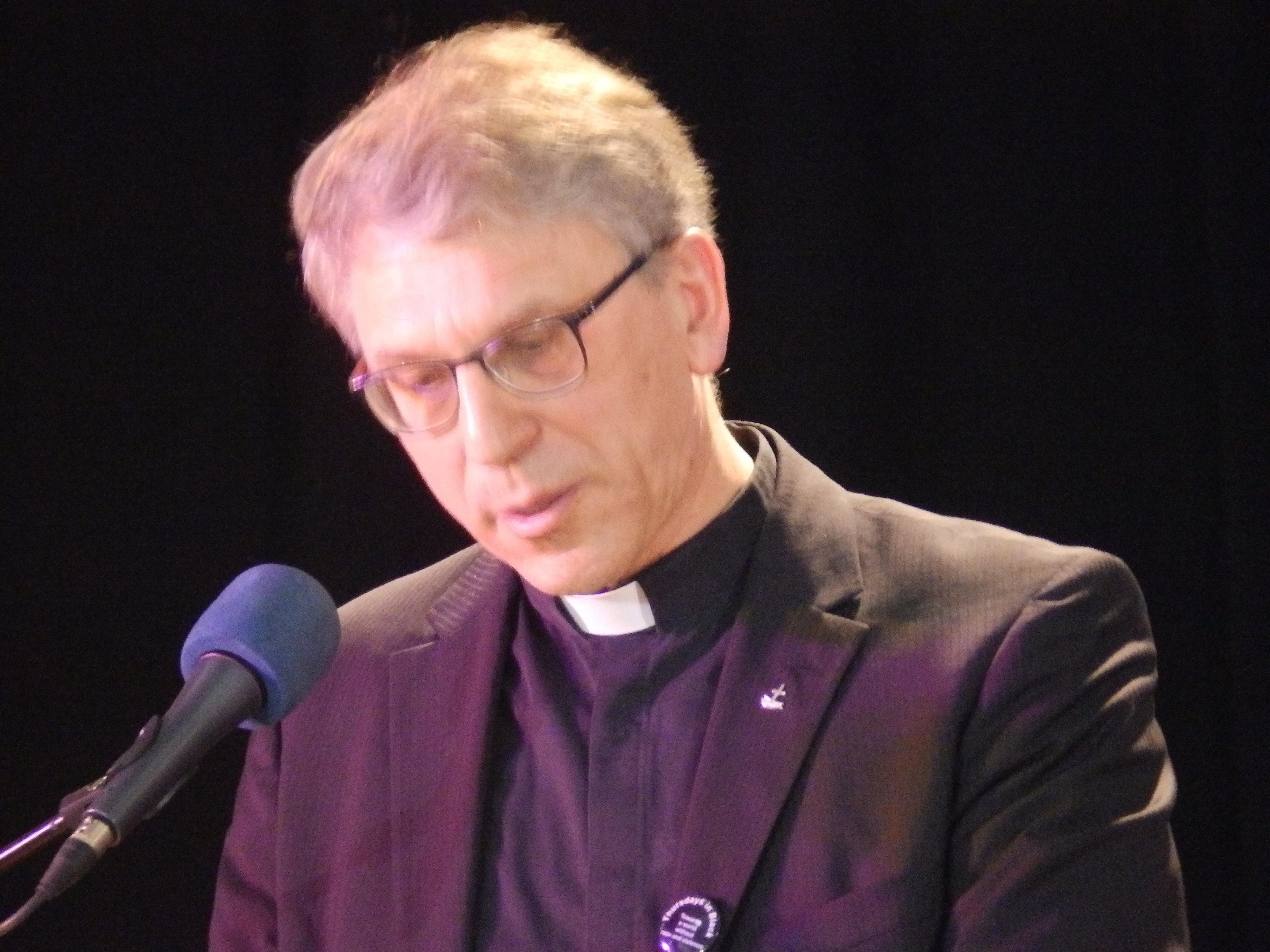 Pasteur Olav Fykse Tveit le Secrétaire Général du Conseil Oecuménique des Eglises lors de son discours d'ouverture de la Conférence