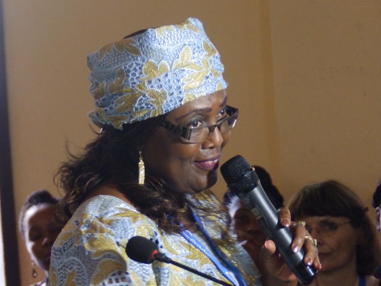 Pasteure Henriette M'BATCHOU, présidente de la Cevaa