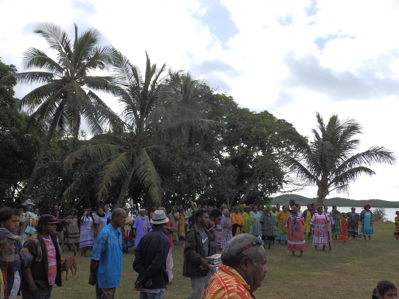 Les aurevoirs avec les paroisses des îlots