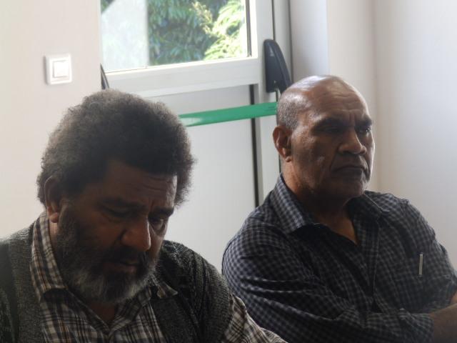 Le Président du CA Kapia WAHMETU et le Directeur de l'ASEE Mr IHAGE Victor