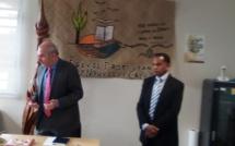 Le Haussaire, Monsieur Laurent PREVOST et le chargé de mission, monsieur Richard POADO
